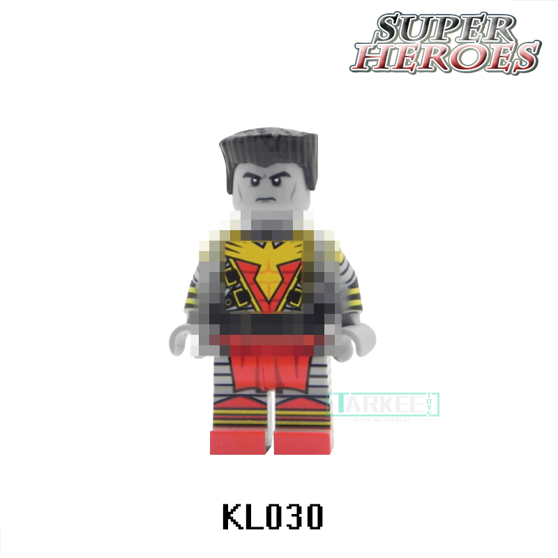Single Sale KL030 Colossus X-men Marvel Super heroes Cute Figures Inhumans Royal Family Building Block Children Kids Gift Toys
