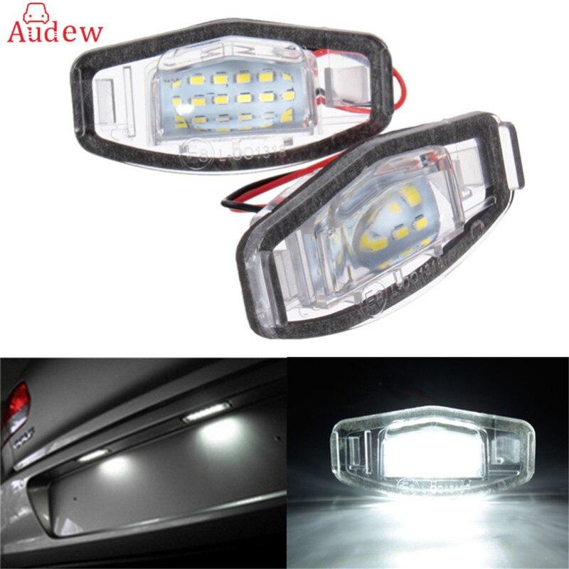 1 пара 18 светодиодов номерной знак света для Honda для Civic VII4 / VIII на Аккорд для легенды