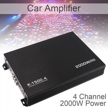 12V 2000W uniwersalny 4-kanałowy Audio Stereo głośnik basowy samochodowy sprzęt Audio wzmacniacze Subwoofer samochodowy sprzęt Audio wzmacniacze tanie i dobre opinie NoEnName_Null 105dB 120HZ - 3KHZ Full Body Heat Dissipating Aluminum Alloy