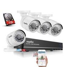 SANNCE HD 1080P HDMI 8ch CCTV System 8 channel DVR KIT 720P Video Recorder & 1500TVL Security Camera 1TB hdd Home Surveillance