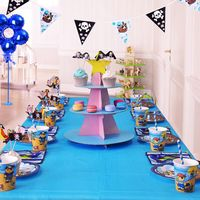 69pcs 8 persons Tableware sets Pirate theme Series Children Kids Birthday Party Cups+Plates+Straws+Forks+Knife+spoons+napkins