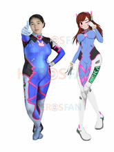 D VA Costume Cosplay Female/Women/Girls/Lady Halloween dva Zentai Catsuit Custom Lycra Spandex Digital Print Bodysuit