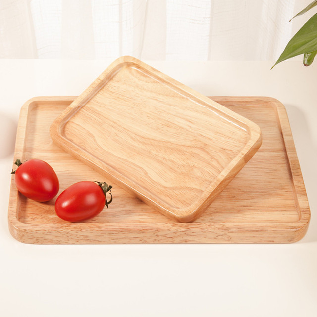 Solid Wood Serving Trays Japan Style Rectangle Fruits/Pizza/Beef Plate Wooden Storage Trays & Solid Wood Serving Trays Japan Style Rectangle Fruits/Pizza/Beef ...