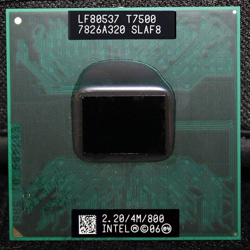 Intel Core Duo T7500 Процессор (4 м Кэш, 2.2 ГГц, 800 мГц ФСБ), двухъядерный процессор ноутбука для 965 чипсет