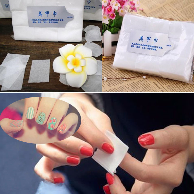 Hot New 900Pcs Nail Art Wipes Lint Cleaner Paper Pad Acrylic Gel Polish Tips Remover