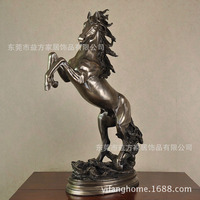 Resin crafts imitation bronze horse sculpture high grade copper ornaments hotel opened housewarming gift ornaments