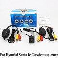 Câmera De Estacionamento Para Hyundai Santa Fe Clássico (SM) 2007 ~ 2017/RCA AUX Fio Ou Sem Fio/HD Visão CCD Noite Câmera de Visão Traseira