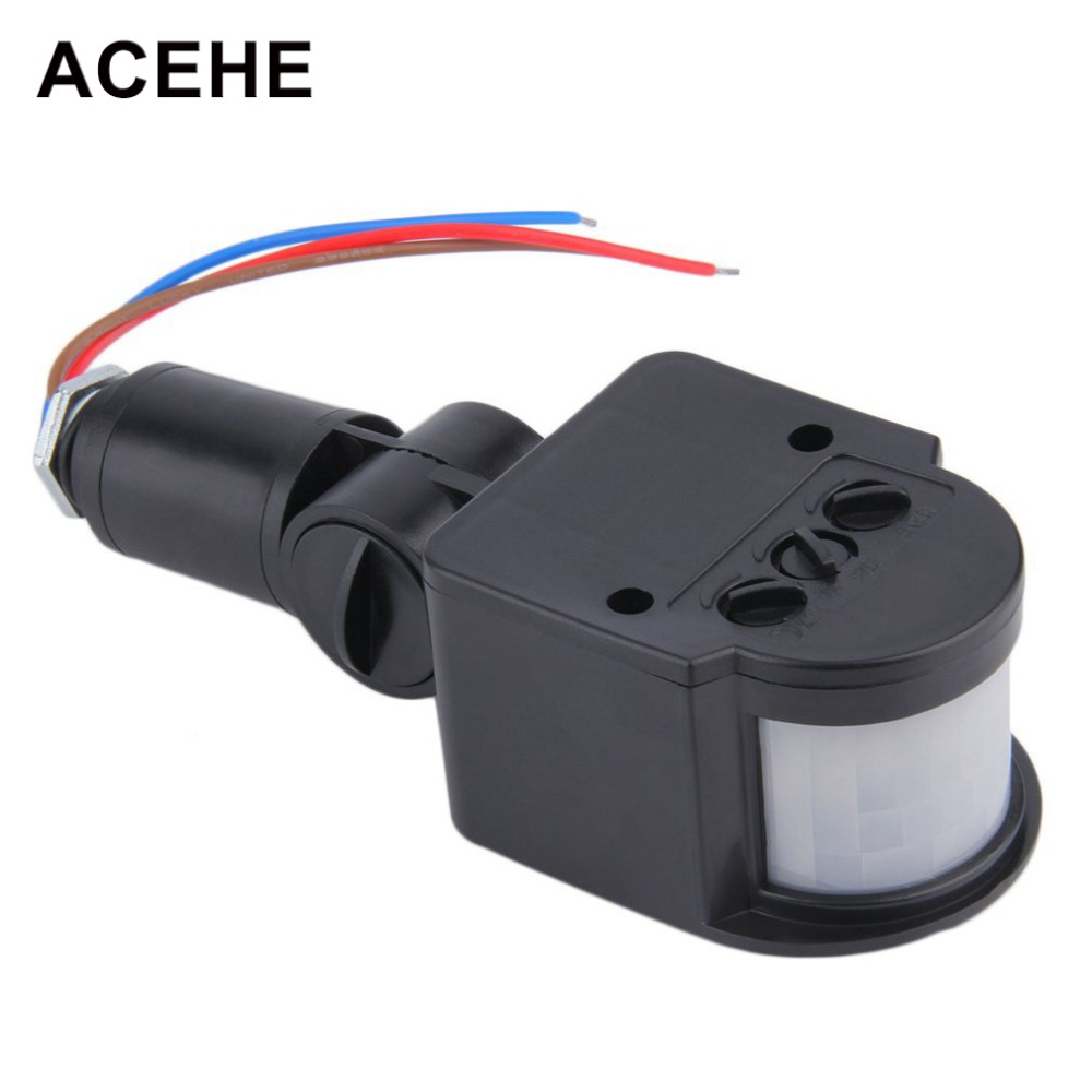ACEHE Motion Sensor Switch AC 220V LED PIR Infrared Motion 140 Degree Rotating Switch Sensor Detector For Wall Light Lamp xsav11801 inductive proximity switch speed sensor motion rotate detector 0 10mm dc ac 24 240v 2 wire 30mm replace telemecanique