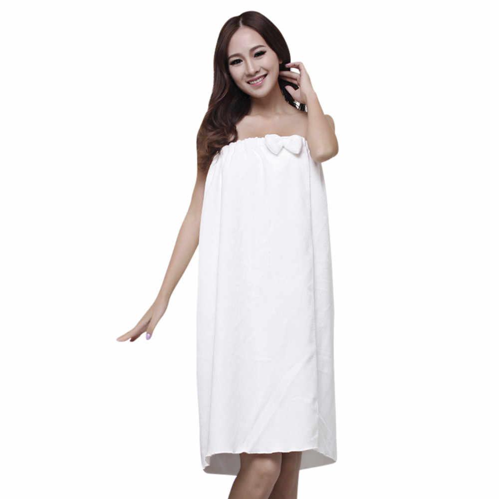 Vogue cómodo absorbente microfibra para mujer ducha Spa cuerpo toalla envolvente para baño arco baño vestido ducha Sauna Spa cuerpo/ss