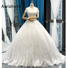 Vestido デ noiva 2020 王女のウェディングドレスオフショルダーアップリケレース夜会服のウェディングドレスプラスサイズローブデのみ