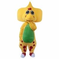 Cosplaydiy Custom Made Unisex Popular Barney Dinosaur Plush Adult Mascot Costume for Christmas L0713