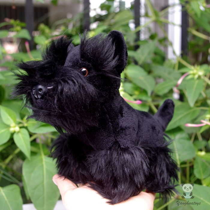 Simulation Dogs Dolls Plush Animals Toy Cute Schnauzer Doll Toys Children Gift  Black 2016 hot selling 22cm the first sofia princess dolls toys sophia clover cartoo toys rabbit plush doll