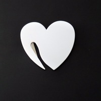 Wholesale 50Pcs Pack Plastic Letter Envelope Opener Mail Knife Safety Guarded Cutter Blade Office Equipment Heart