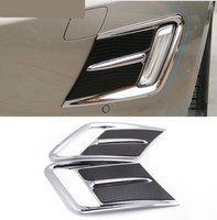 Chrome Styling Front Fog Lamp Frame Decoration Trim For Volvo XC60 2014 17 Car Exterior Accessories Modified Strip