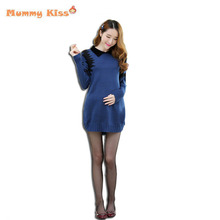 2015 fashion Korean style full sleeve clothes for pregnant women casual maternity Knitted sweater for pregnant