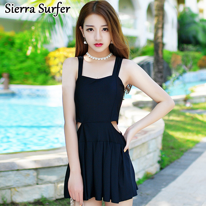 Swimwear Women Lady Bikini 2018 Swim Suit One Piece Large Size Swimsuits Korean Dress Swimsuit Sexy Bra Underwire Push Up