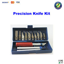 13pcs/Set Precision Knife blade, Knife Set Gravar Burin Carving Tool Gravar Burin Knife+3 Handle Sculpture Knife