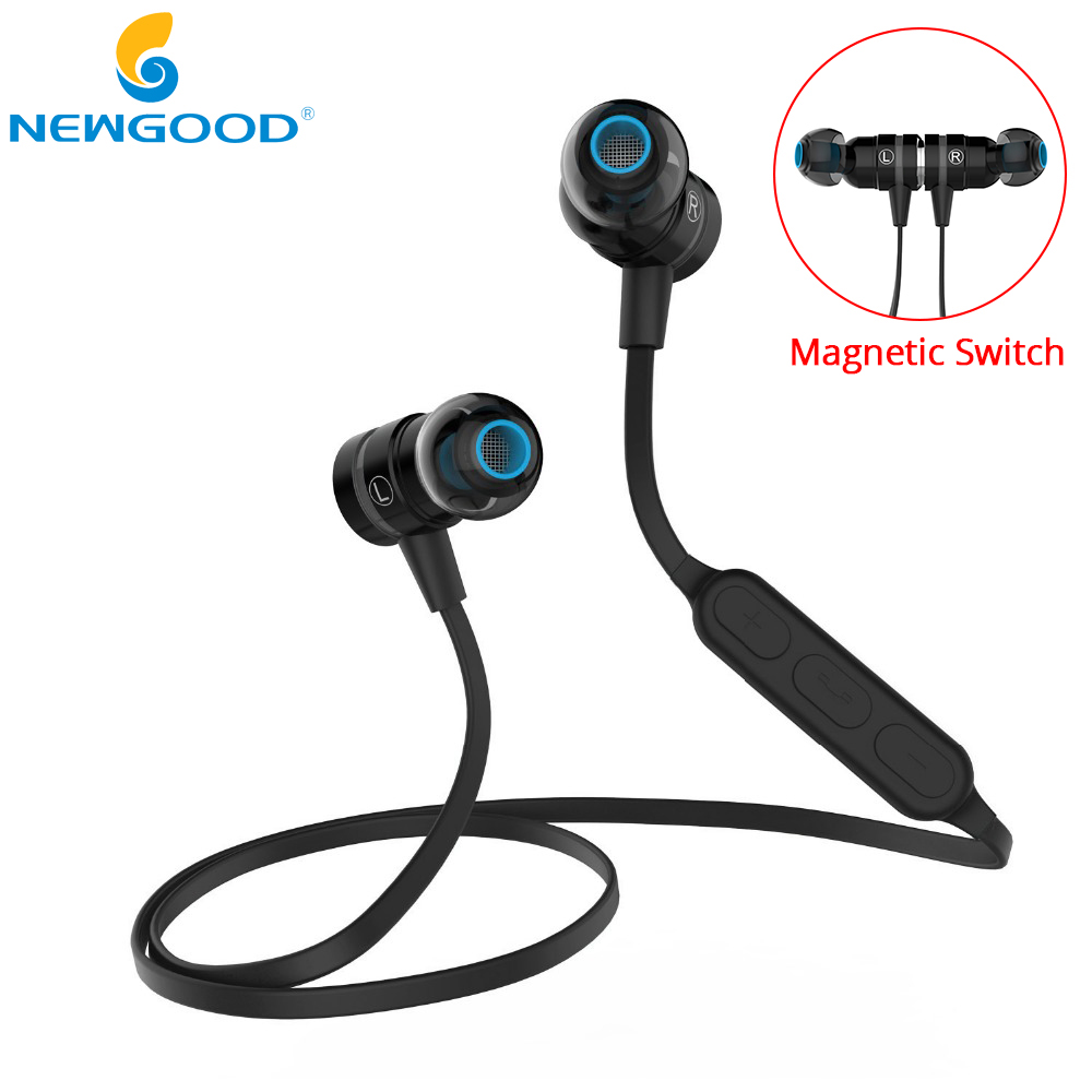 Magnetic Switch Bluetooth Wireless Sport Earphone With Microphone Super Bass Stereo Earphones Headphones Running Headset BX335 original xiaomi sport bluetooth earphone wireless sport stereo headphones with microphone ip6 waterproof bluetooth 4 1 headset