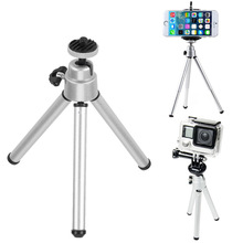 Mini Portable Table Tripod Desktop Stand Aluminum Alloy Stabilizer Tripods Holder with Screw Mount Adapter for Smartphone Camera