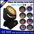 2 шт./лот Бесплатная доставка RGBWA + UV ZOOM WASH LED 36 шт. led RGBWAY moving head light 18 Вт 6 в 1 zoom wash сценический светильник с подвижной головкой new