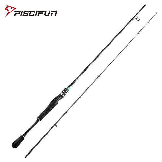 Piscifun Serpent Fishing Rod Spinning 2M 2.2M M ML IM7 Toray Carbon Fiber Fuji Guides Tournament Level Fishing Tackle