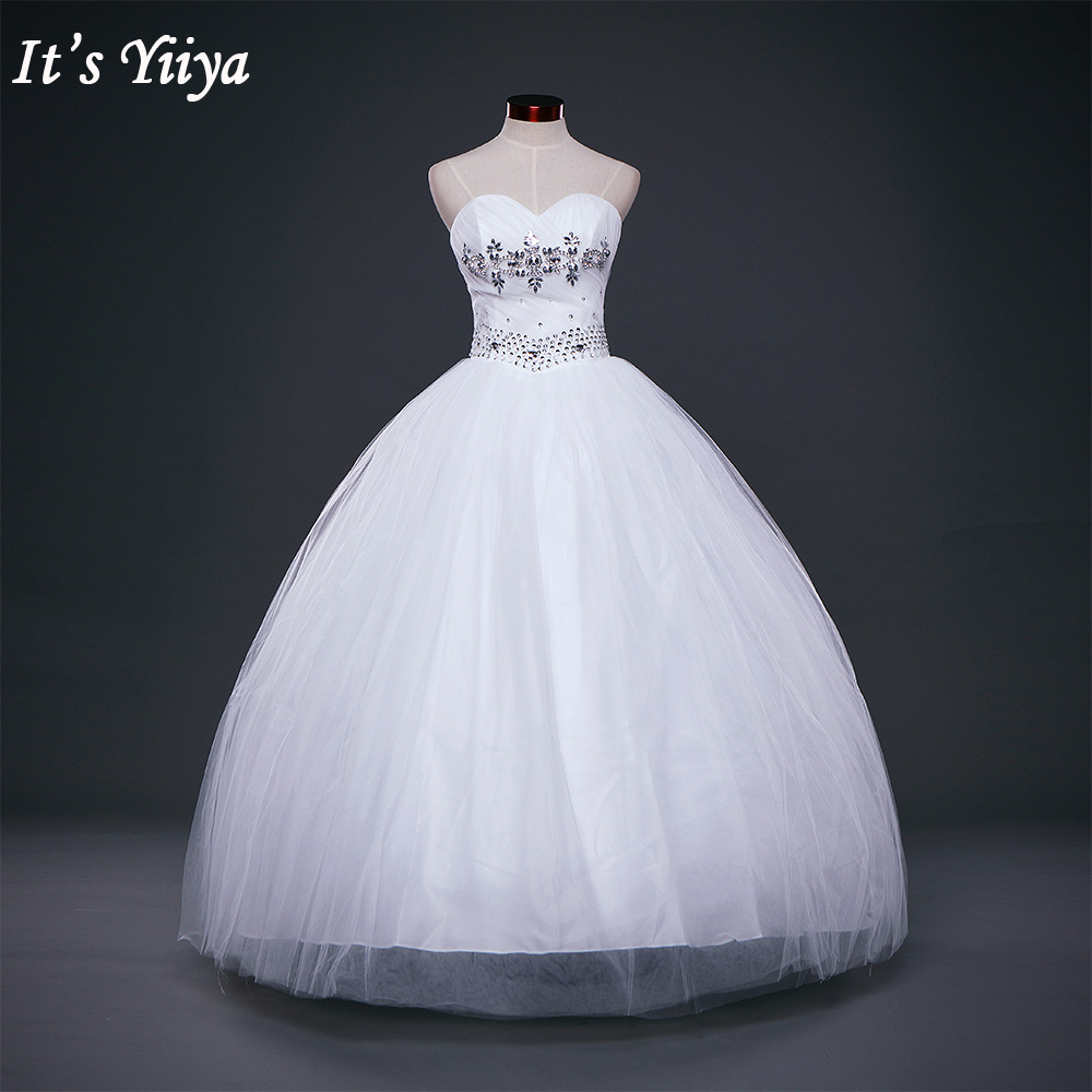 HOT Free shipping white princess wedding dress 2017 plus size fashionable cheap bride Vestidos De Novia wedding gown Y228