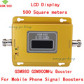 Gain New LCD Display 500square meters GSM 900MHZ Signal booster GSM980 Cell Phone Mobile Signal Booster/Amplifier/repeater kit
