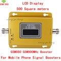Ganho Novo Display LCD de 500 metros quadrados GSM 900 MHZ Signal booster GSM980 Celular Mobile Phone Signal Booster/Amplificador/kit repetidora