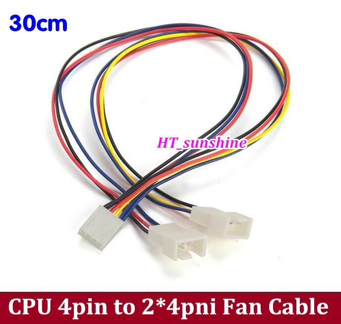 Envío libre motherboard CPU 4pin a 2 * 3pin/4pin cable adaptador ...