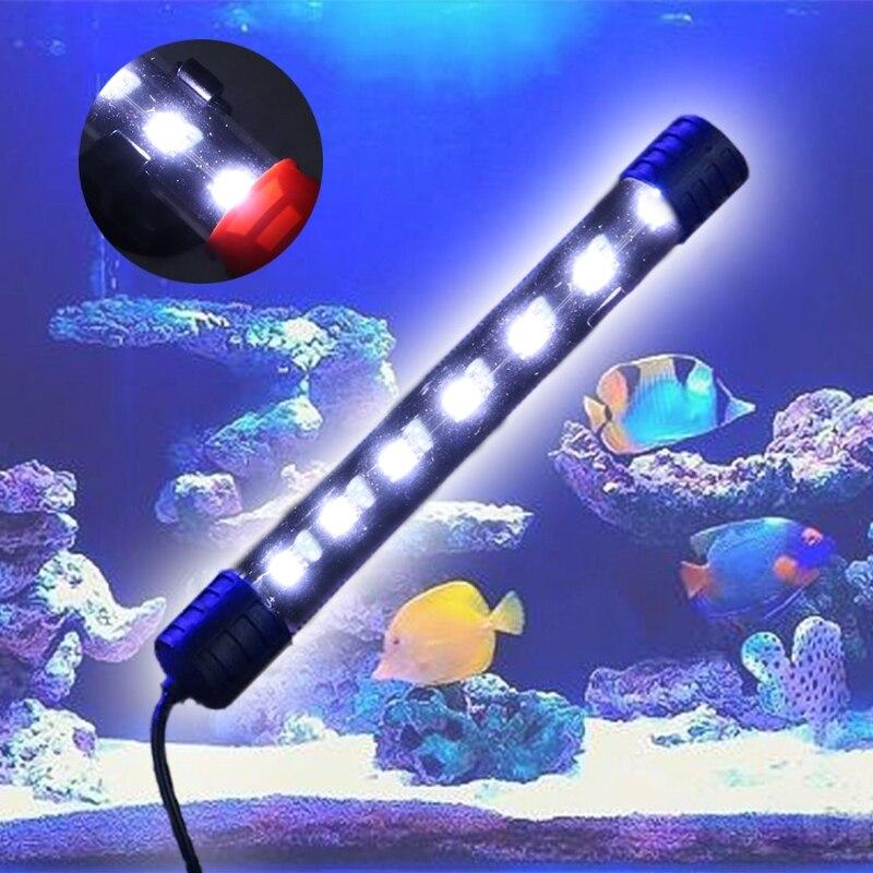 1.5 W UE Plug Submersible Étanche Aquarium Fish Tank LED Light Bar Bande Lampe W18 Drop ship