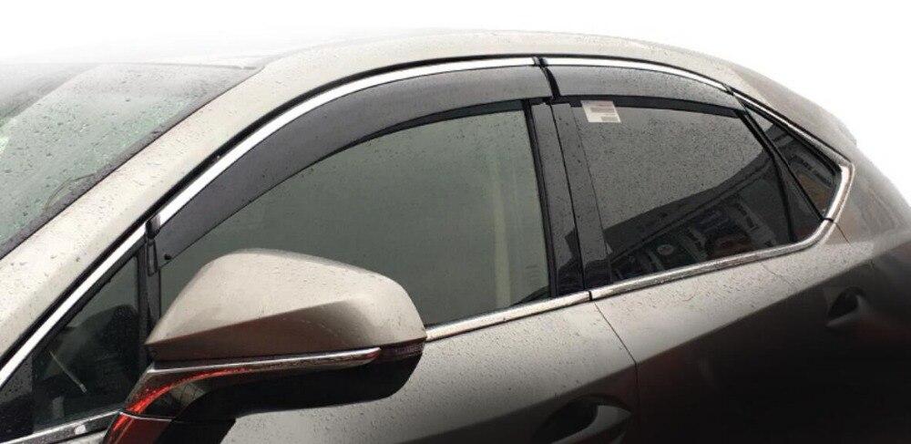 NEW 4pcs Window Visor Deflector Rain Guard For Lexus NX NX200t NX300h 2015 2016 2017