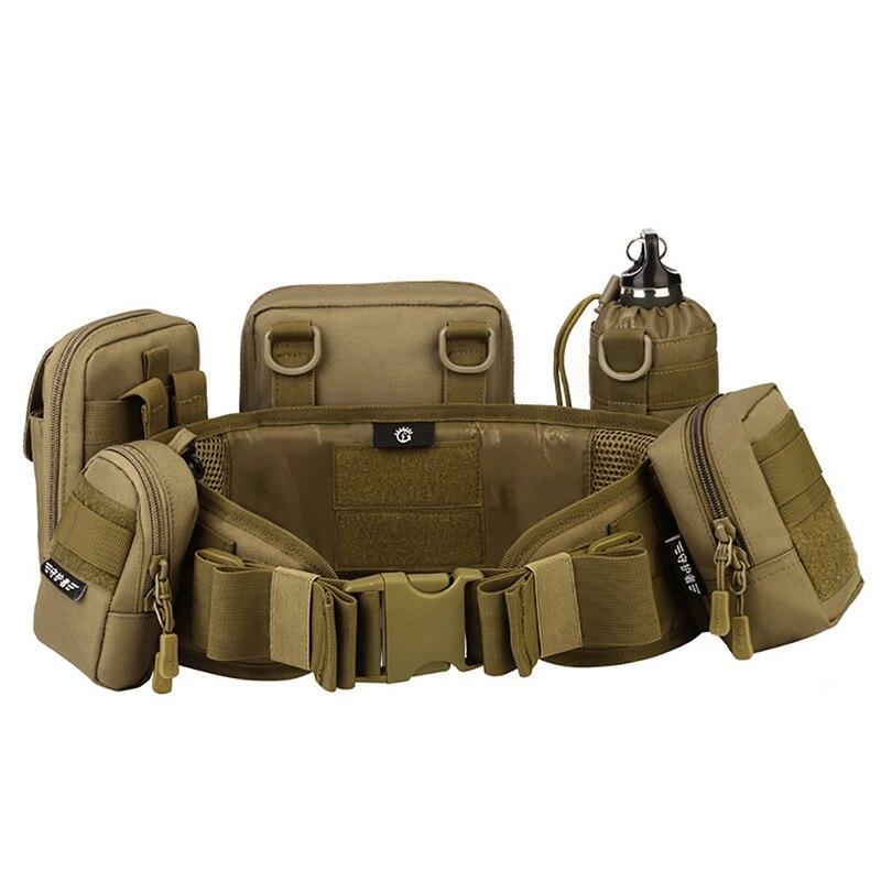 Ajustable Militar molle camuflaje cinturón multi-uso airsoft combat wide cinturón táctico cinturón exterior CS cinturón