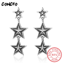 2018 Hot Sale Top Fashion Star Party Classic None Brinco Oorbellen Concho Jewelry 925 Sterling Stars Drop Earrings For Women