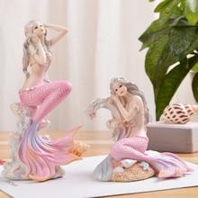 Средиземноморская креативная фигурка принцессы русалки, украшение для аквариума, украшение для аквариума, декор для гостиной, аксессуары для домашнего декора