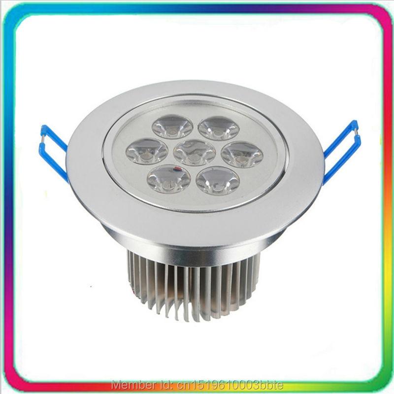 12PCS AC85-265V 7W 12W 18W LED griestu gaisma ar regulējamu LED lejupvērstu apgaismojumu