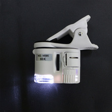 Mobile Phone Microscope 60X 12mm Mini HD Microscope Macro Le