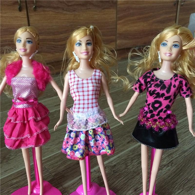 Nr 2 Modieuze Jurk Kleding voor 1/6 poppen Westerse stijl Jurken Voor Barbies Pop Meisje Gift DIY Pop Accessoires 100 Stks/partij-in Poppen Accessoires van Speelgoed & Hobbies op  Groep 3