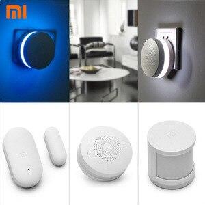 Image 5 - 2017 Originele Xiaomi Smart Home Kit Automatische Beveiligingssysteem Gate weg Draadloze Schakelaar Menselijk Lichaam Sensor En Deur Raam Sensor
