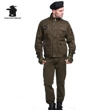 Новый Для мужчин; рабочие Костюмы (куртка + брюки) Высокое качество Multi-карман хлопок плюс Размеры повседневная одежда Костюмы Для мужчин M ~ 4XL DY8FBTF009
