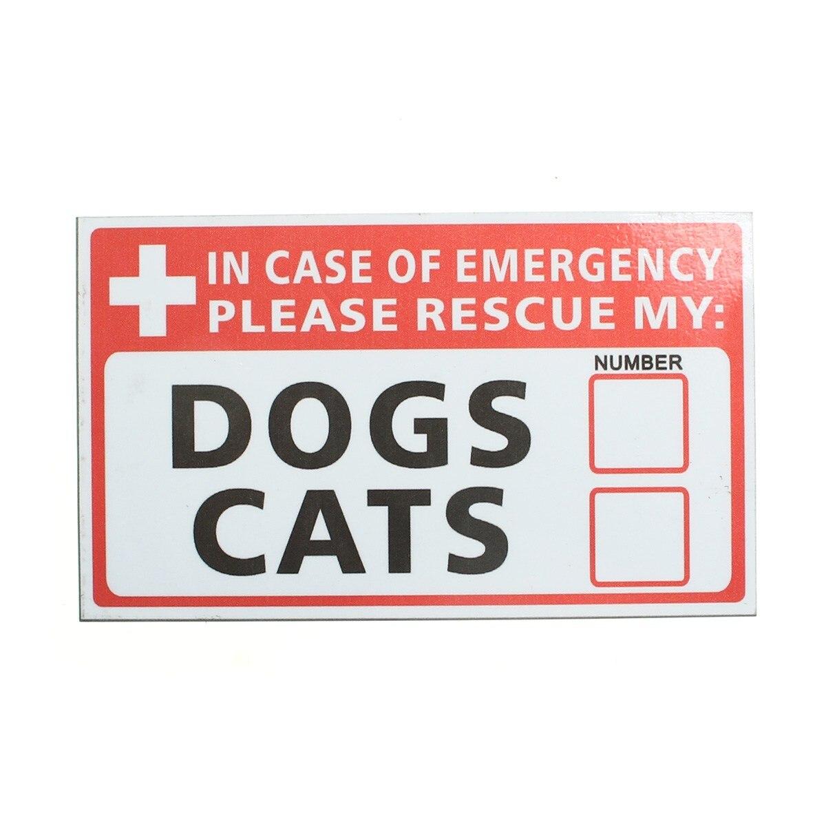Safurance чрезвычайных ПЭТ-Rescue Dog кошка винил Стикеры этикетки знаки Детская безопасность Предупреждение 74*125 мм безопасности Детская безопасно...