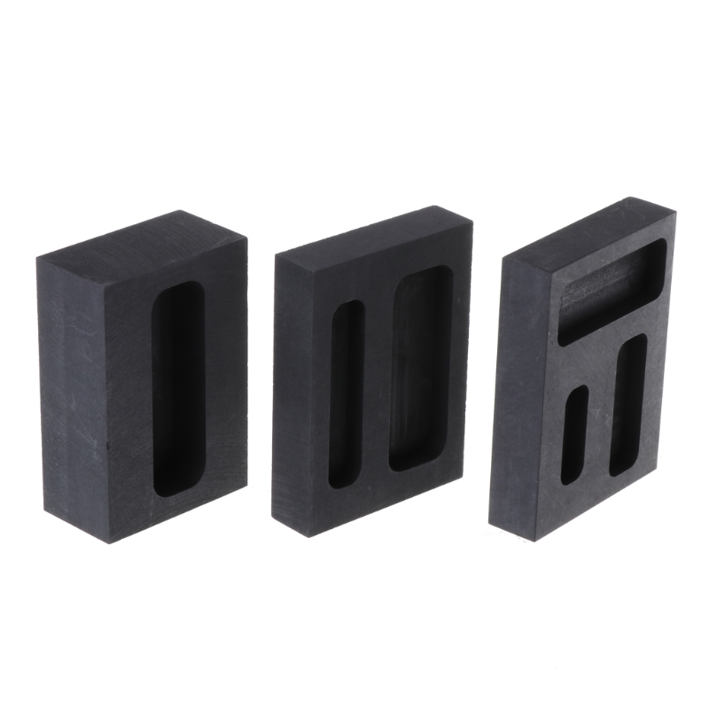 Free Delivery Gold Crucible Graphite Ingot Melting Metal Bar Mold Casting Refining Scrap Tool