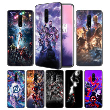 Avengers Endgame Thanos Marvel Superher Black Silicone Case Cover for OnePlus 6 6T 7 Pro 5G Ultra-thin TPU Phone Back Protective