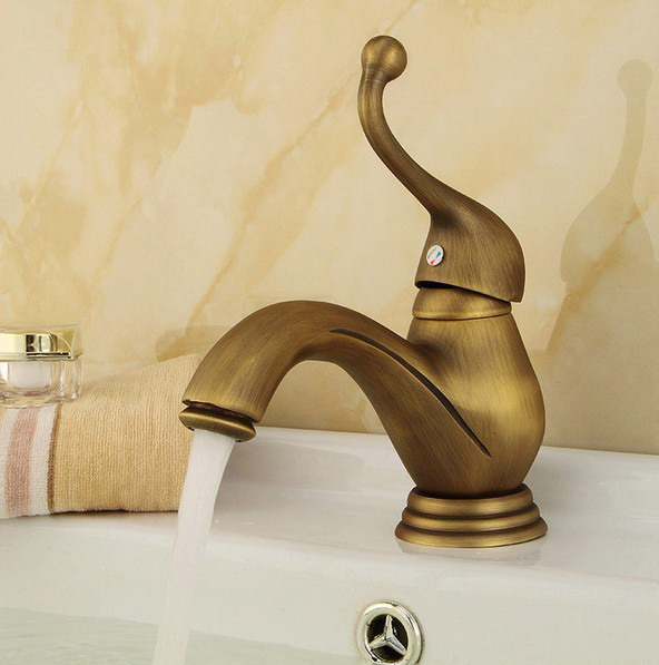 Vintage Retro Antique Brass Single Handle Bathroom Deck Mounted Faucet Vessel Sink Basin Mixer Tap anf106Vintage Retro Antique Brass Single Handle Bathroom Deck Mounted Faucet Vessel Sink Basin Mixer Tap anf106