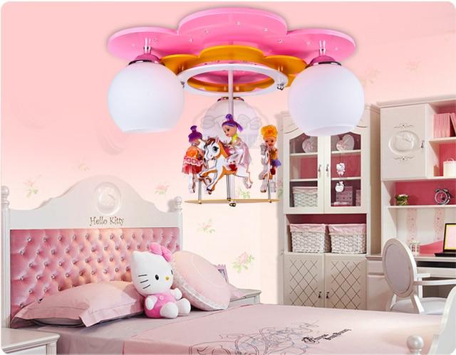 Karussell Lampe Cartoon Mädchen Zimmer Kronleuchter Kinder Kinder  Schlafzimmer Kinderzimmer Decke Mit Beleuchtung Lampen