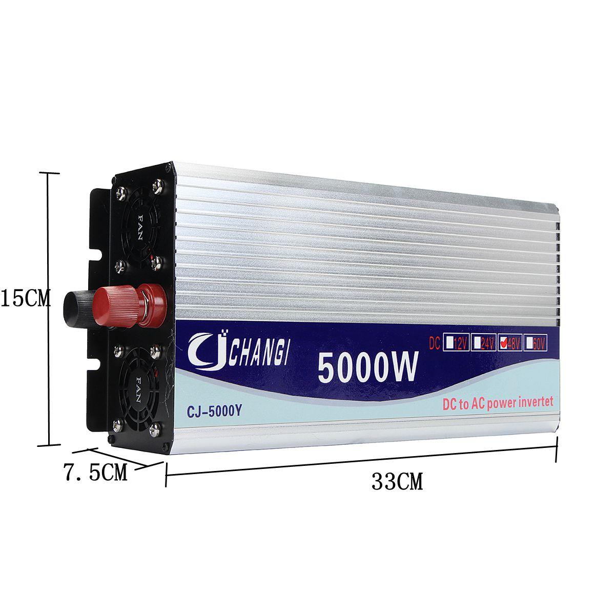 Onduleur 12 V/24 V/48 V 220 V 5000 W 10000 W convertisseur de tension de transformateur de tension sinusoïdale modifiée de crête + écran LCD - 5