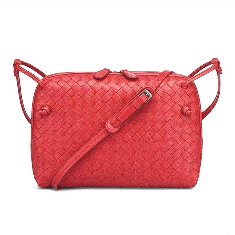 Luxury Woven Sheepskin Handbag Shoulder Female Girl Messenger Handmade Designer Top Fashion Lambskin Crossbody Bags For Women