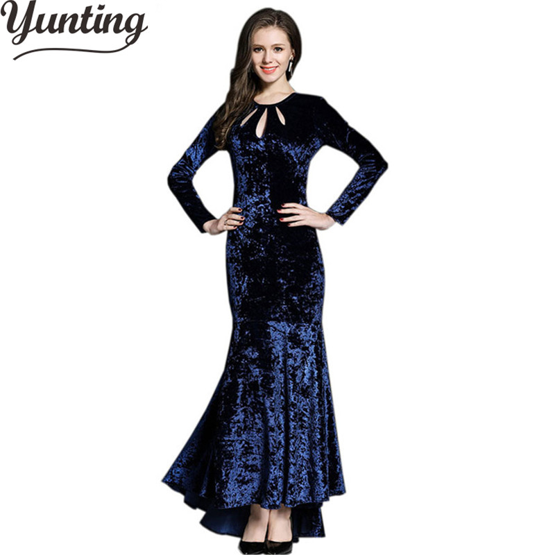 Зимние платья сексуальные вечерние Зеленые Синие длинные бархатные платья для женщин длинные макси платья Vestido Longo Vintag Robe Femme