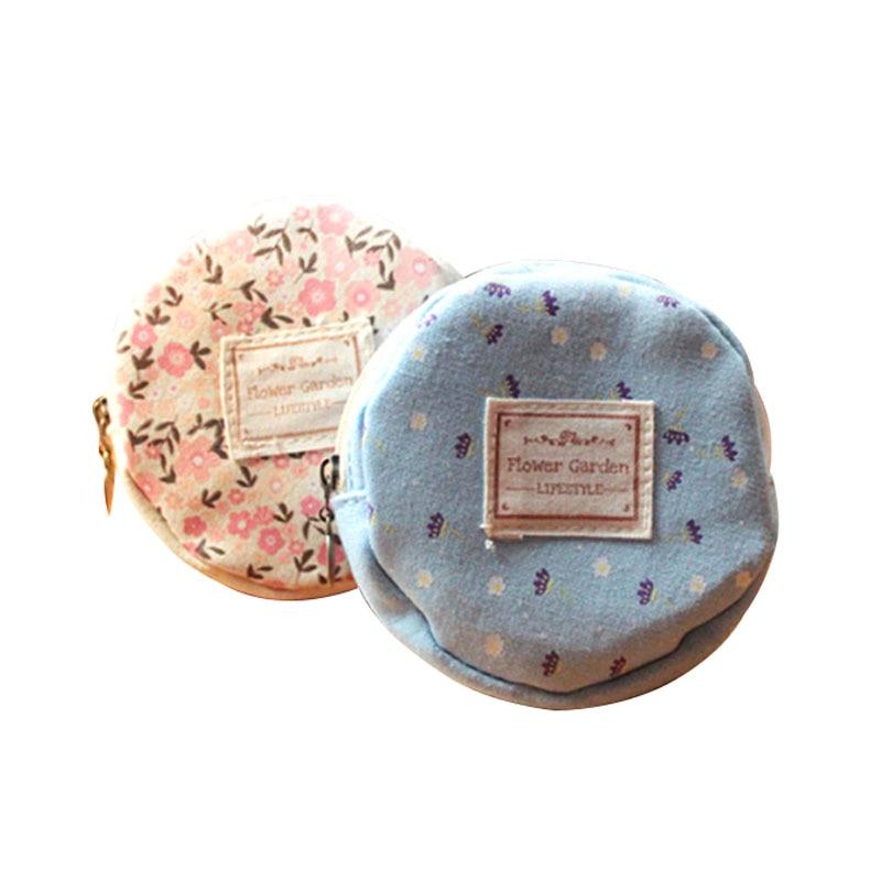 Zipper Clé monnaie Mini Pochette Lady Sac Pcs Pour Impression Femmes 50 Coin Porte Portefeuilles Please Message Floral Portefeuille Mignon lot Leave xa6zYq7w