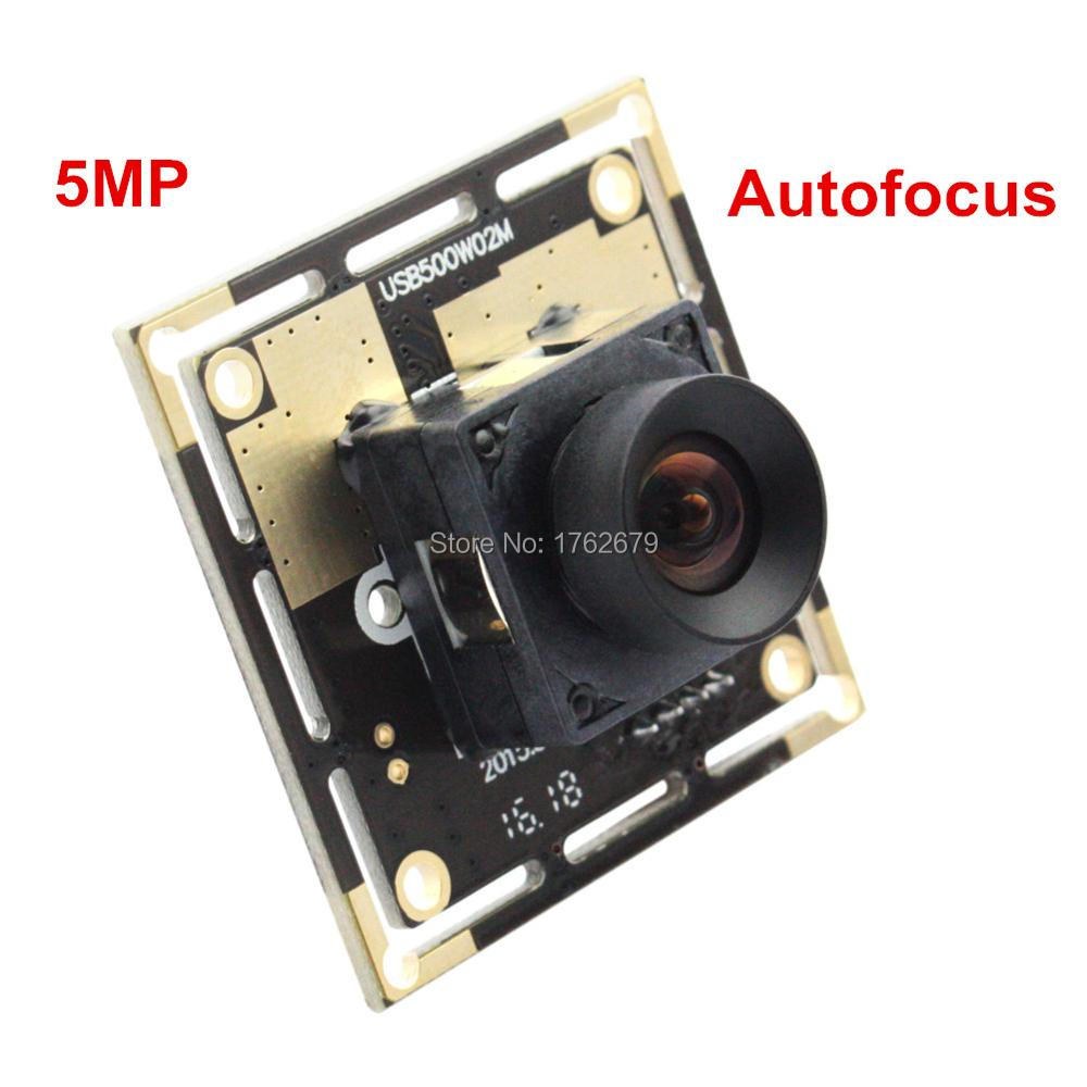 Autofocus 5.0Megapixel 2592X1944 cctv Surveillance camera module 100 degree no distortion lens CMOS OV5640 usb Video camera