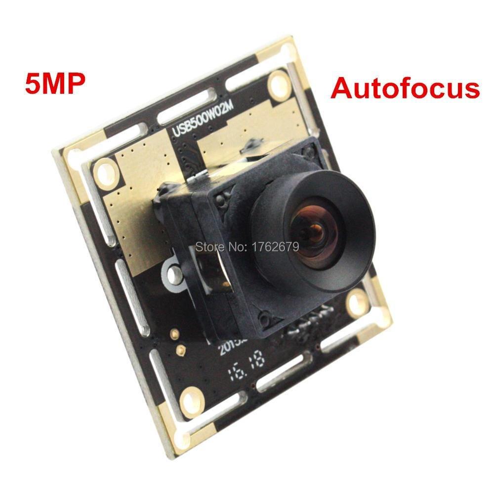 Autofocus 5.0Megapixel 2592X1944 cctv Surveillance camera module 100 degree no distortion lens CMOS OV5640 usb Video camera